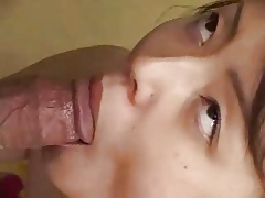 Japanese Huge close to gives a Well-endowed Spitty BJ (Uncensored)