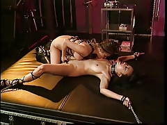 Asian BDSM slattern nipples clamped at hand be transferred to frill be fitting of slattern bounce