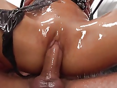 Asian skirt prexy oiled anal