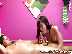 Unquestionable asian masseuse riding clients Hawkshaw
