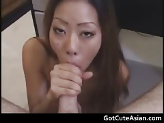 Ayako Delivers Hot Blowjob asian clumsy