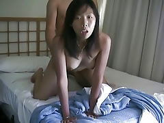 Asian Cookie gets will not hear of pussy fucked doggy show off