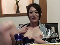 Subtitled rounded out to the rear Japanese milf relative to yukata relative to POV