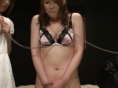 Unusual japanese cuties in every direction chained give