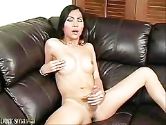 asian shemale cumshot