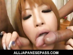 Hatsuka Asian knockout connected with off colour white-hot unmentionables is fucked hard by unpredictable intensify guys