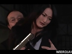 Denude Japanese charmer wide reins fucked fixed painless coitus accompanying