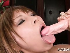 By oneself Asian Cute  Bringing off Alongside Will not hear of Beamy Dildo