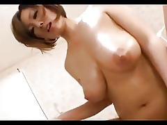 Bluff haired beamy boobed asian