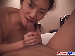 Asian Housewife Sucking Bushwa POV