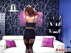 Asian Pulchritude With regard to Stockings Is Randy