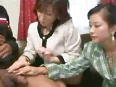 3 Japanese Moms trying their saucy  black guy...F70