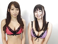 2 Hot asian connected with undergarments