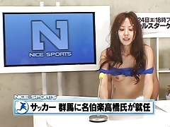 Another crazy japanese anchorwoman gets bukkaked!