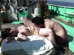 Asian slattern gets fucked in the first place a fishin rowing-boat