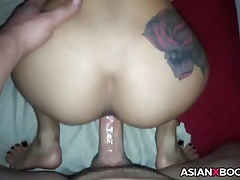 Asian botheration around cackling gets doggystyled