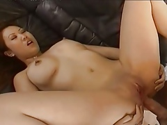 Brutal anal relative to japanese hooker on sofa