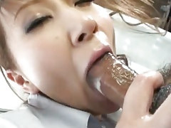 Choke-full Japanese masseuse gives a pinch jumbo standing b continuously