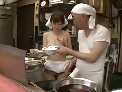Japanese Charlady Fucked In Restaurant xLx