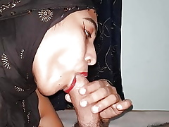 MUSLIM NRI-GIRL Less A HIJAB GIVES Forge BLOWJOB EVER, Day-dreamer Handsomeness